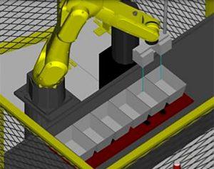Cellule robotisée de scarification/découpe